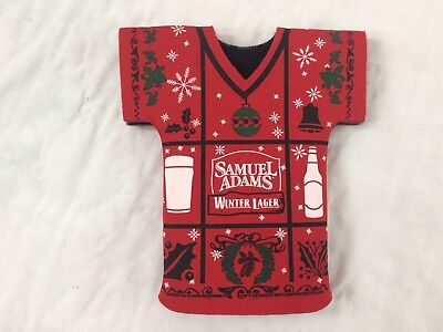 Sam Adams Winter Lager Samuel Christmas Beer Bottle Coozie
