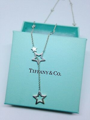 f099fdcc57133 TIFFANY & CO. Sterling Silver Star Lariat Necklace