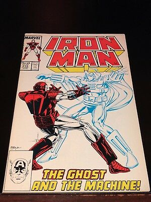 1987 IRON MAN #219 1st appearance GHOST villain in Ant Man & Wasp movie NM-