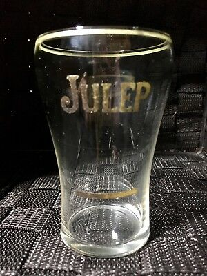 ORIGINAL JULEP Glass SYRUP LINE 1920's Soda Xcond Collectible Advertising