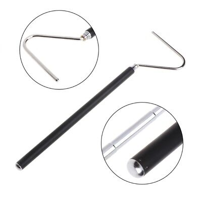 """39"""" Stainless Steel Snake Catcher Stick Safety Retractable Handling Hook Tools"""