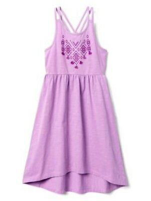 NWT Gymboree Jump into Summer Girls Aztec Embroidered Knit Dress Xl 14