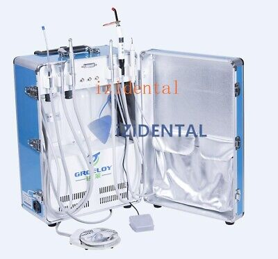 Greeloy Portable Dental Unit with Compressor +Ultrasonic Scaler +Curing light CE