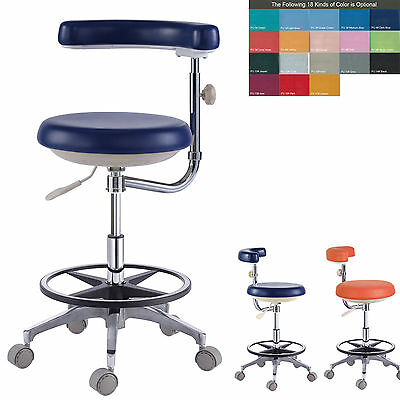 New Dental Assistant's Stool Nurse's Stool Chair PU Leather QY500(N) 18 Colors