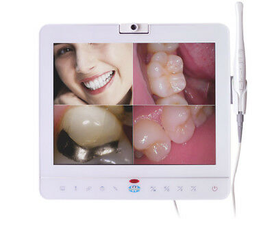 15'' Dental Monitor Wired Intraoral Camera System W/h VGA+VIDEO+HDMI+USB Port UK