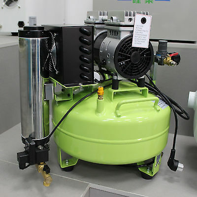 24L Dental Oil Free Oilless Noiseless Air Compressor with Air Dryer 118L/min