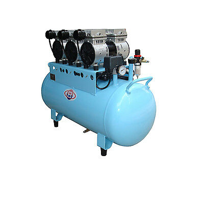 90L Dental Noiseless Oilless Air Compressor 390L/min 1-Driving-5 Stable NEW
