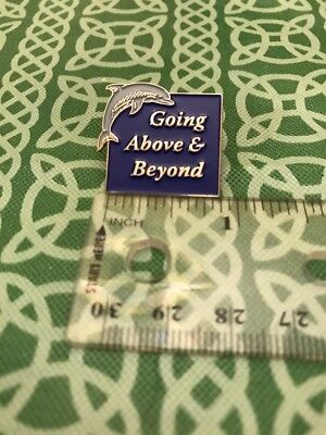 Going Above & Beyond Quote Saying Enamel Dolphin Lapel Pin FREE SHIPPING