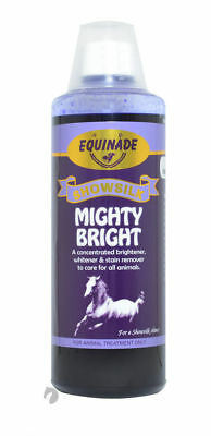 Equinade MIGHTY BRIGHT Stain remover Horse Pony Dog cattle brighten whiten 500ml