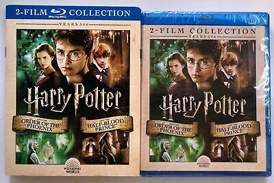 New Harry Potter Years 5 & 6 Film Collection Blu Ray Wizarding World Slipcover