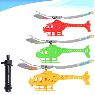 Outdoor Throw Aircraft Power Handle Pull Helicopter Model Educational Toys HT