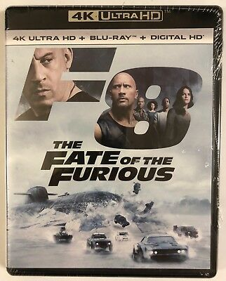 New The Fate Of The Furious 4K Ultra Hd Blu Ray Digital Hd 2 Disc Set Free Ship