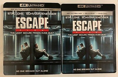 Escape Plan 4K Ultra Hd Blu Ray 2 Disc Set + Slipcover Sleeve Free Worldshipping