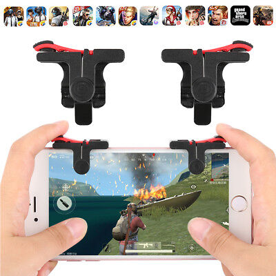 PUBG Shooter Controller Gaming Trigger Fire Button Handle L1R1 For iPhone Xiaomi