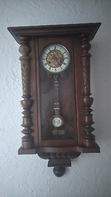 Superb Vienna Wall Clock Working Antique Beautiful Time- Piece