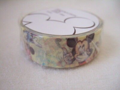 Disney Store Japan Mickey Mouse and Friends  tape NEW 15mm x 8m washi tape