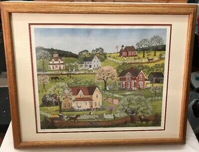 """MARY SINGLETON Singed & Numbered Print """"The Tree House"""", Frame: 29""""x23"""""""