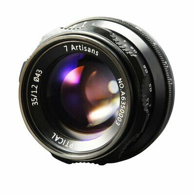 7artisans 35mm F1.2 APS-C Manual Focus Fixed Lens For Canon EOS-M Mount+gift