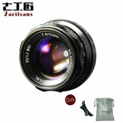 7artisans 35mm F1.2 Manual Lens For Fuji FX Mount X-A1 X-AT X-M1 XM2 camera+gift