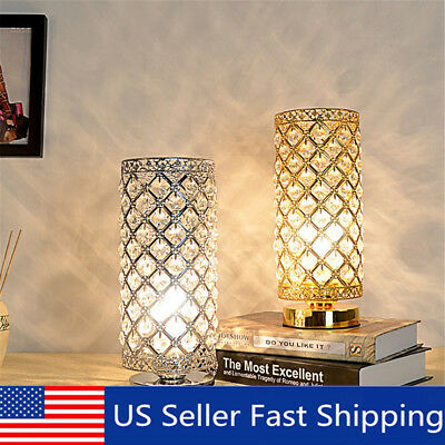 Crystal Table Lamp Bedside Nightstand Desk Reading Lamp for Bedroom Living Room