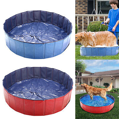 Pet Outdoor Swimming Pool Bathing Tub Portable Foldable Sturdy Round Classic