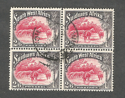 """H Value South Africa~""""Suid Africa"""" 4 X 26d  Stamps.FU,1931 definitives, 10/-s"""