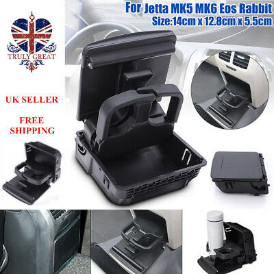 Rear Armrest Central Console Cup Holder For VW Jetta Golf GTI MK6 MK5 EOS RABBIT