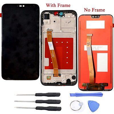 LCD Display Touch Screen Digitizer Assembly with Frame For Huawei P20 Lite +Tool