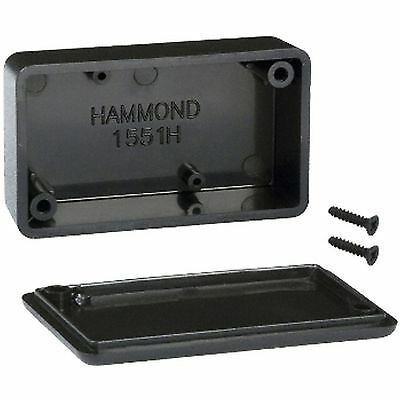 Plastic enclosure ABS 60x35x20mm black HAMMOND