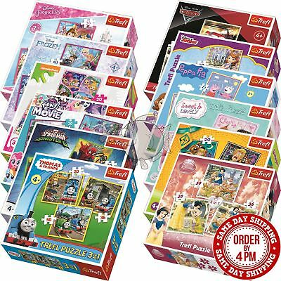 Trefl Disney 3 in 1 20+36+50 Piece Jigsaw Puzzle For Kids