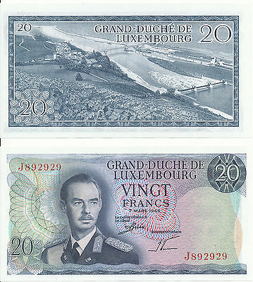 Luxembourg / Luxemburg - 20 Francs 1966 UNC - Pick 54