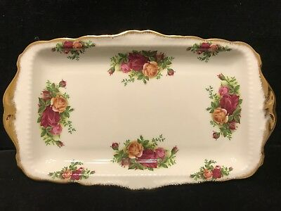 Vintage Royal Albert Old Country Roses Large Sandwich Plate Made In England