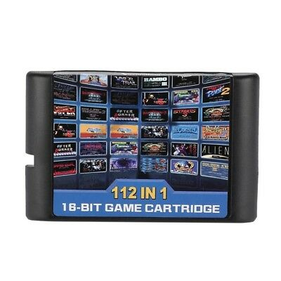 112 in 1 No Repeat 16 bit MD Game Card For Sega Genesis Console For Kids Childre