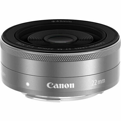 Canon EF-M 22mm f/2 STM Lens (Silver) #9808B002 BRAND NEW WHITE BOX