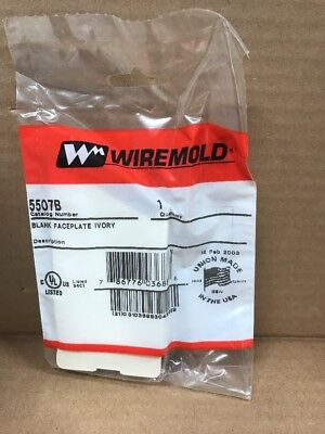 New Wiremold 5507B Blank Faceplate Ivory