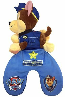 Childrens Paw Patrol Chase Reversible Travel Pillow cushion & Plush Toy Blue