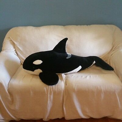 Seaworld Plush Killer Whale Huge 36 Giant Stuffed Animal Orca Large