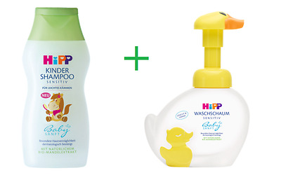 HiPP Sensitive Baby Shampoo 200ml  and Hipp Washing Foam 250