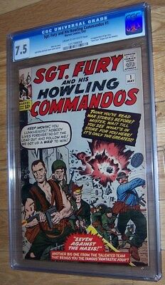 Sgt. Fury and his Howling Commandos 1 CGC 7.5 (Marvel, 1963) 1st Nick Fury!