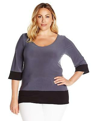 24c6aa6a6a2312 STAR VIXEN WOMEN'S Plus Size 3/4 Sleeve Scoop Neck Tunic-Length ...