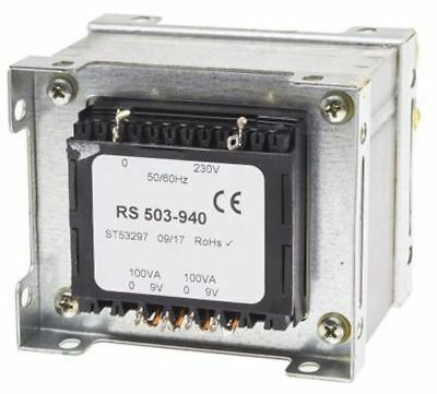RS Pro 200VA 2 Output Chassis Mounting Transformer, 9V ac