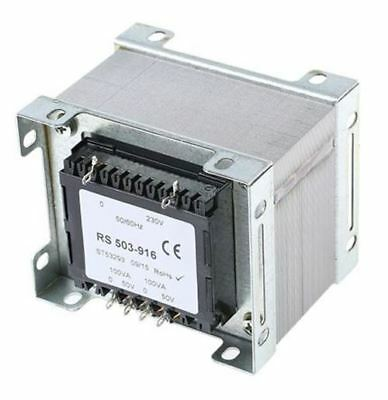 RS Pro 200VA 2 Output Chassis Mounting Transformer, 50V ac
