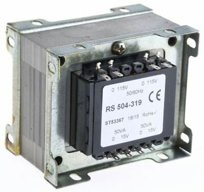 RS Pro 100VA 2 Output Chassis Mounting Transformer, 15V ac