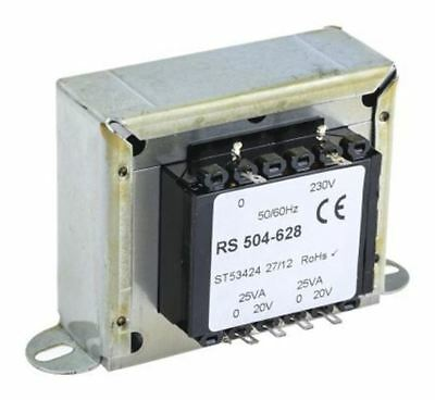 RS Pro 50VA 2 Output Chassis Mounting Transformer, 20V ac