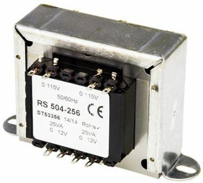 RS Pro 50VA 2 Output Chassis Mounting Transformer, 12V ac