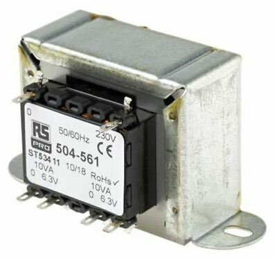 RS Pro 20VA 2 Output Chassis Mounting Transformer, 6.3V ac