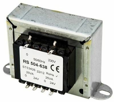 RS Pro 50VA 2 Output Chassis Mounting Transformer, 24V ac