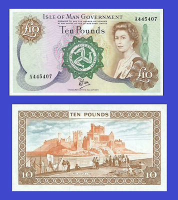 Isle of man 10 pound 1979 UNC - Reproduction