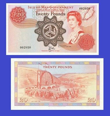 Isle of man 20 pound 1979 UNC - Reproduction