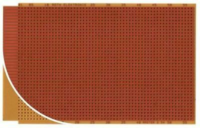 RE523-HP, Single Sided 37-Way Edge Eurocard PCB FR2 with 37 x 57 1mm Holes, 2.54